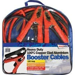 Streetwize Aluminium Booster Cable with Insulated Crocodile Clips - 2m/350Amp